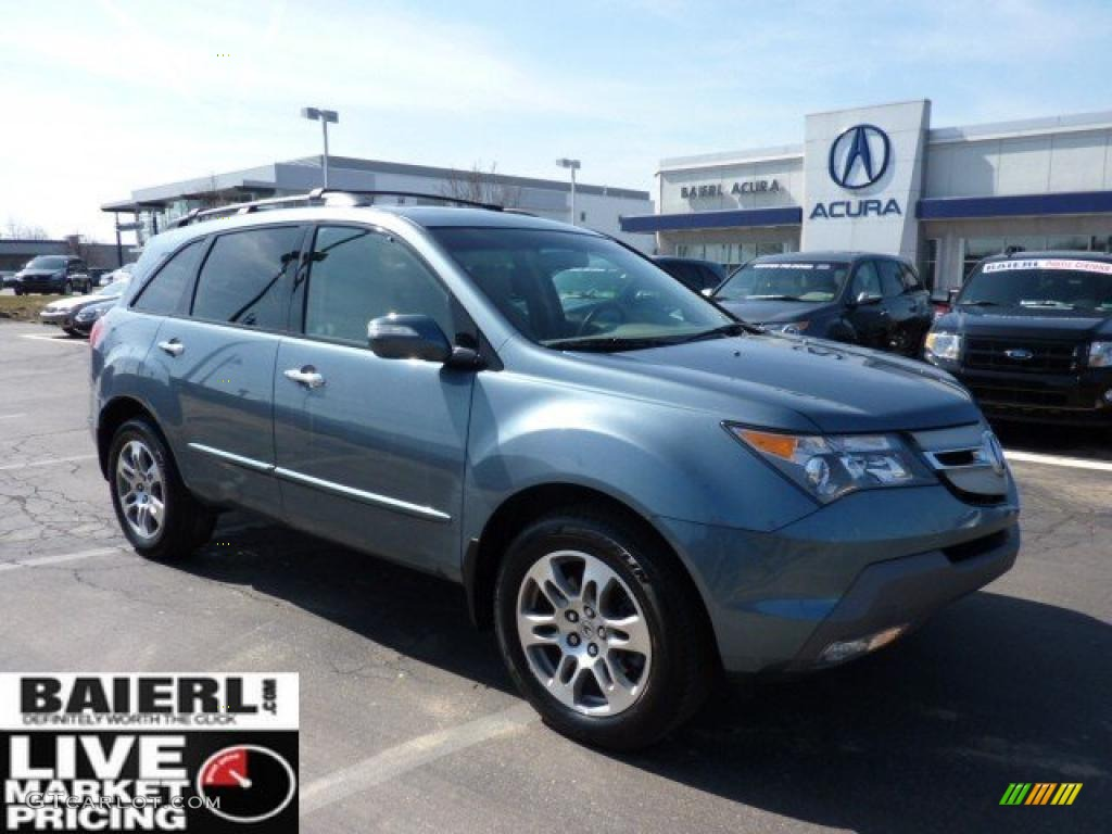2008 MDX  - Steel Blue Metallic / Taupe photo #1