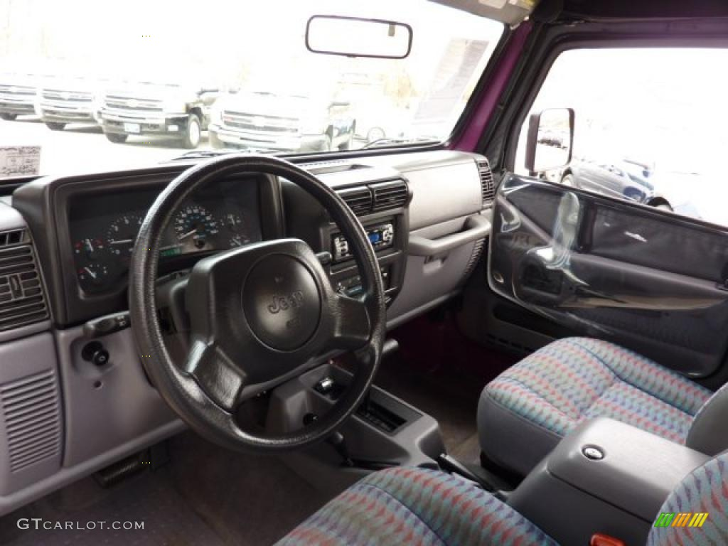 gray interior 1997 jeep wrangler se 4x4 photo 46784436