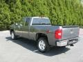 2011 Steel Green Metallic Chevrolet Silverado 1500 LT Extended Cab  photo #3