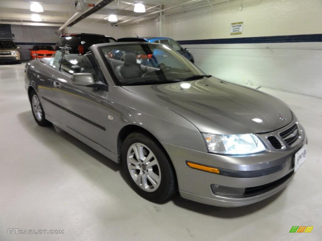 steel gray metallic 2006 saab 9 3 2 0t convertible. Black Bedroom Furniture Sets. Home Design Ideas