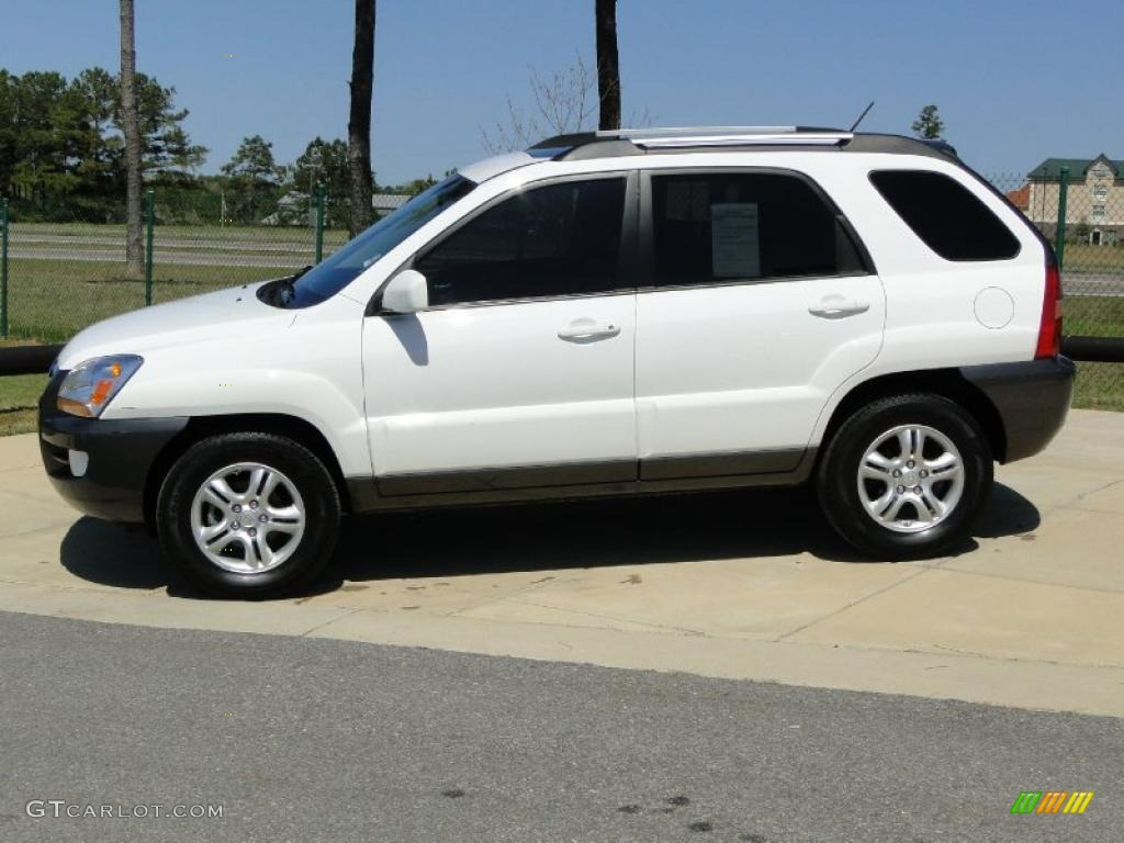 Clear White 2007 Kia Sportage EX V6 Exterior Photo