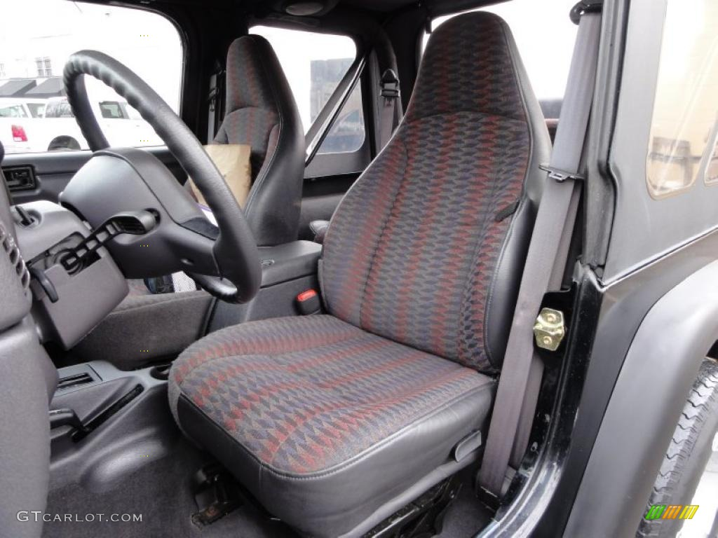 Agate Interior 1999 Jeep Wrangler Sport 4x4 Photo 46805040