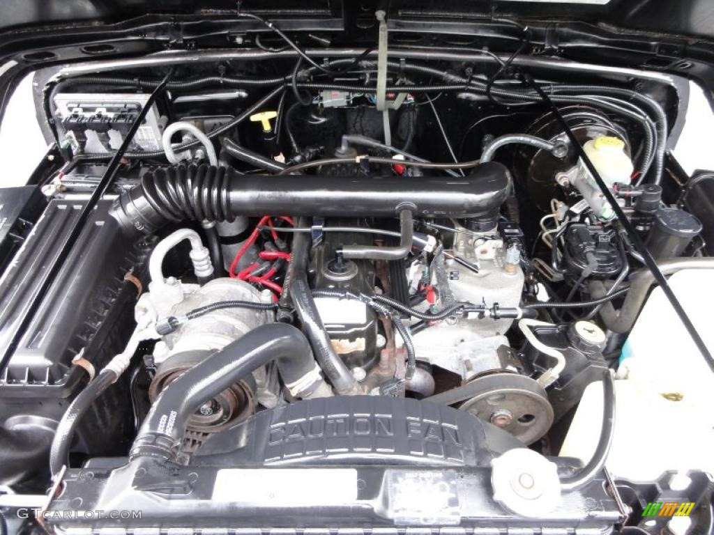 1999 Jeep Wrangler Sport 4x4 4.0 Liter OHV 12-Valve Inline 6 ...