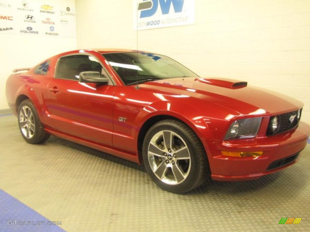 2008 Dark Candy Apple Red Ford Mustang Gt Premium Coupe