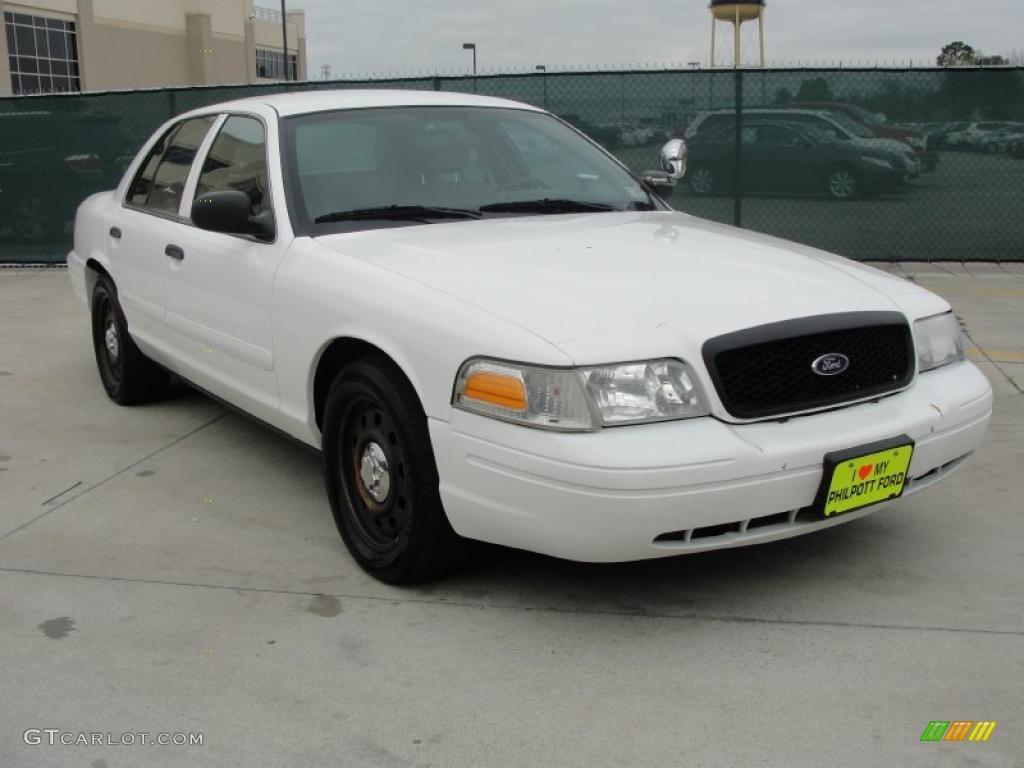 2008 Vibrant White Ford Crown Victoria Police Interceptor ...