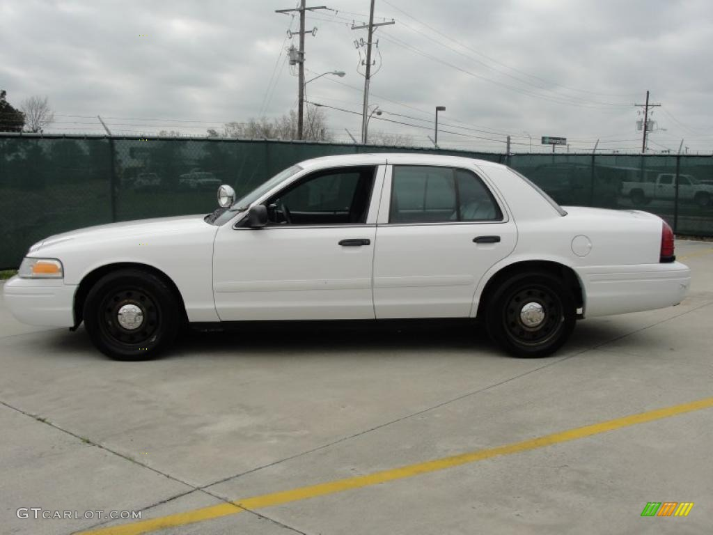 vibrant white 2008 ford crown victoria police interceptor. Black Bedroom Furniture Sets. Home Design Ideas