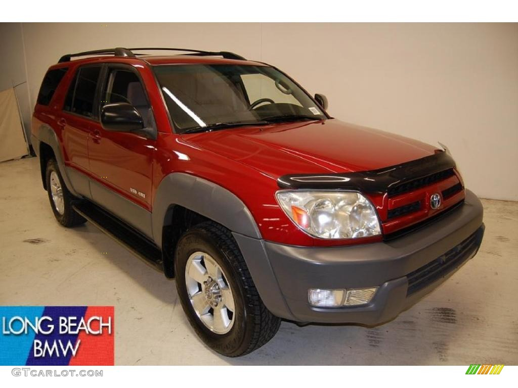 2003 impulse red pearl toyota 4runner sr5 4x4 46776612 car color galleries. Black Bedroom Furniture Sets. Home Design Ideas