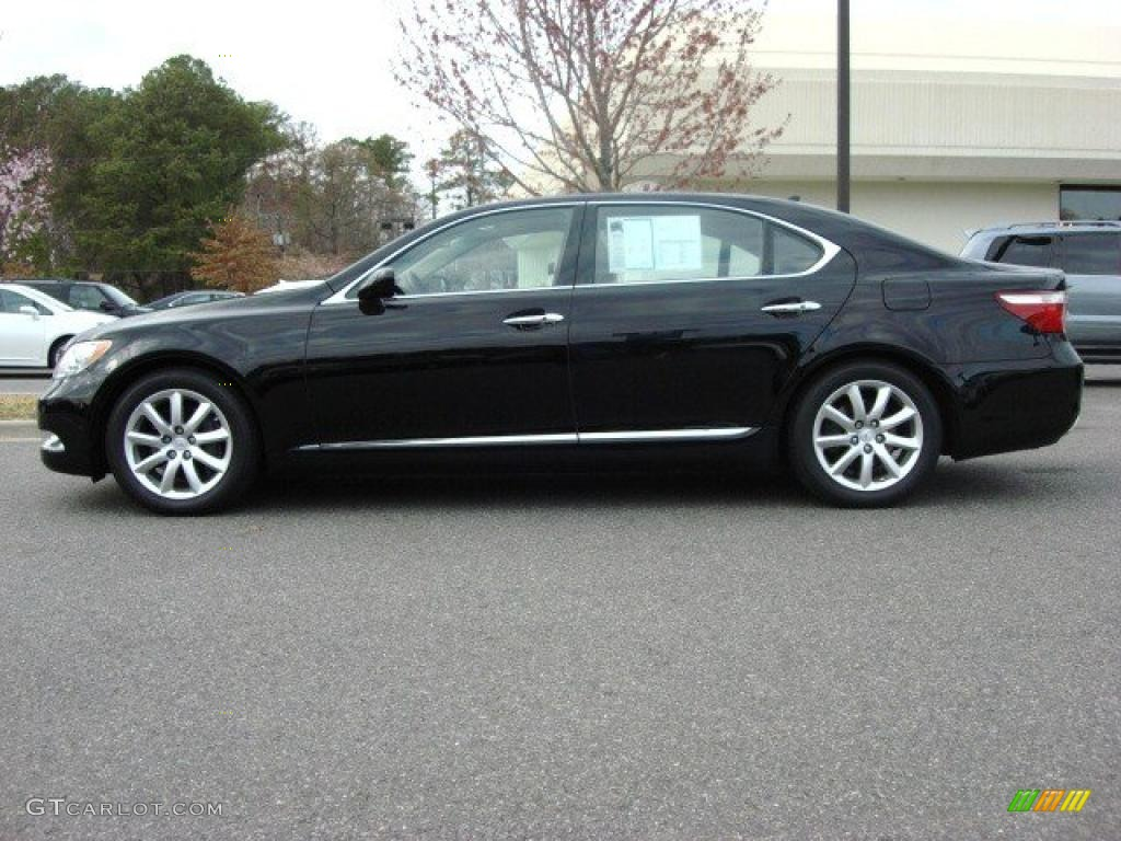 obsidian black 2008 lexus ls 460 l exterior photo. Black Bedroom Furniture Sets. Home Design Ideas