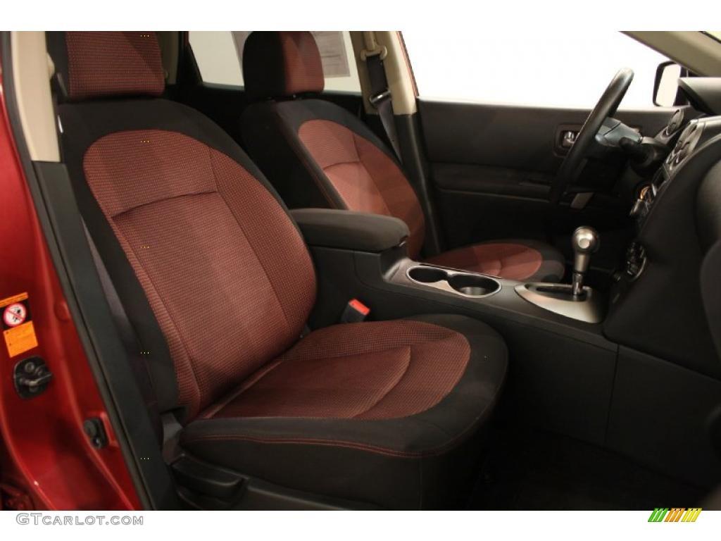 Black Red Interior 2008 Nissan Rogue Sl Awd Photo
