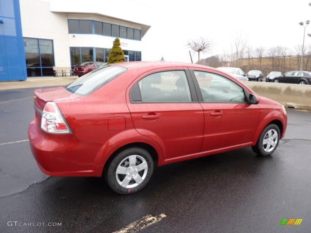 Sport Red 2011 Chevrolet Aveo LT Sedan Exterior Photo #46844814