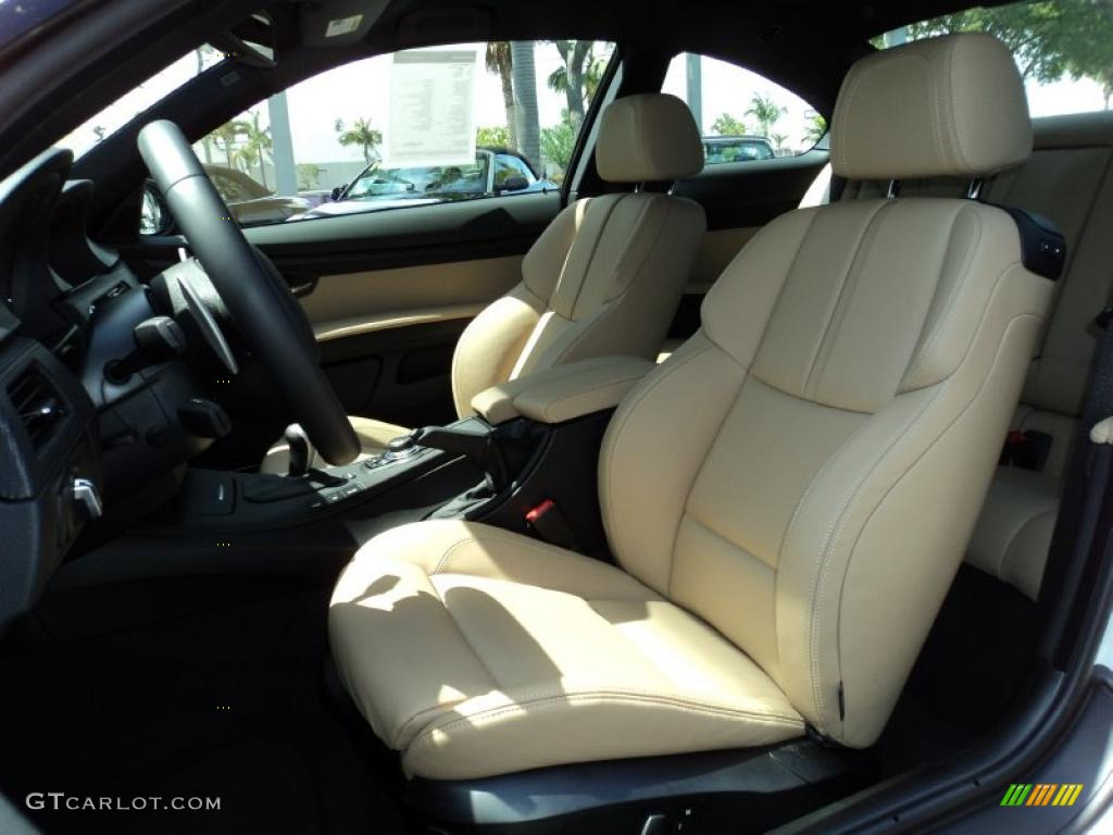 Bamboo Beige Novillo Leather Interior 2011 BMW M3 Coupe ...