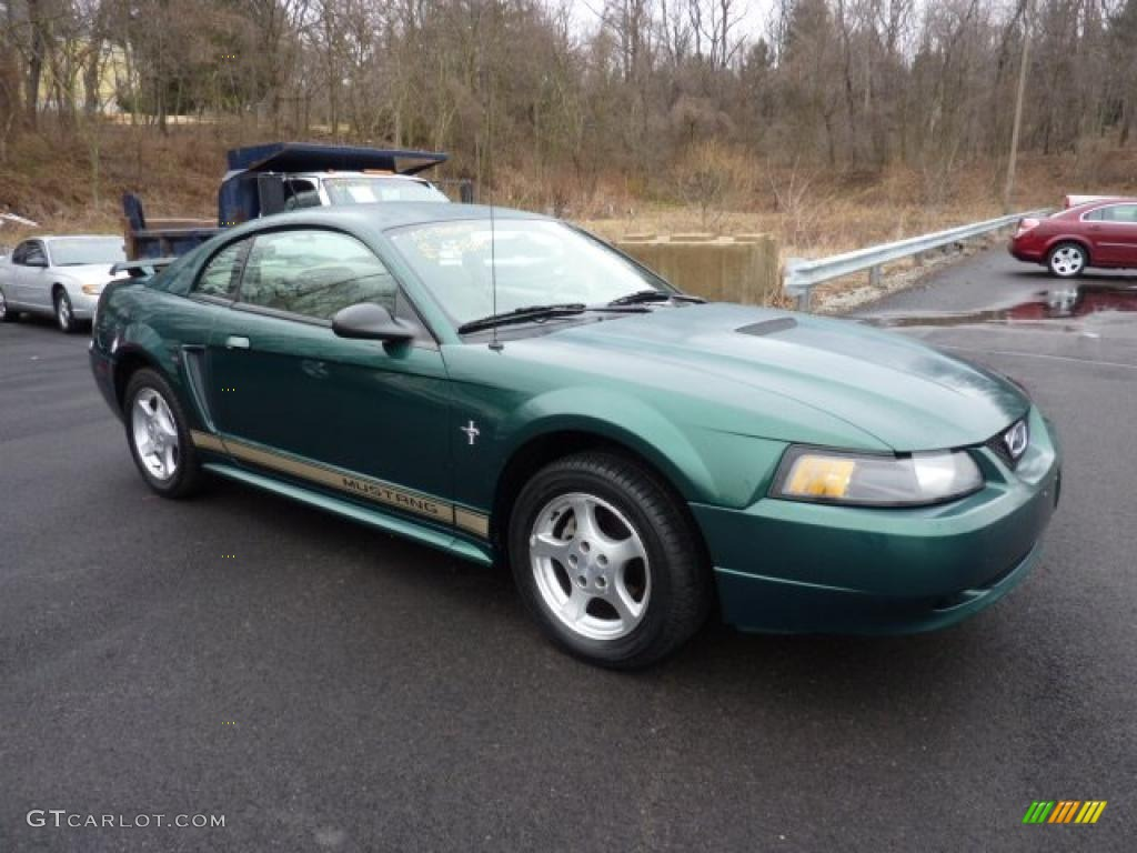 Tropic green metallic ford mustang