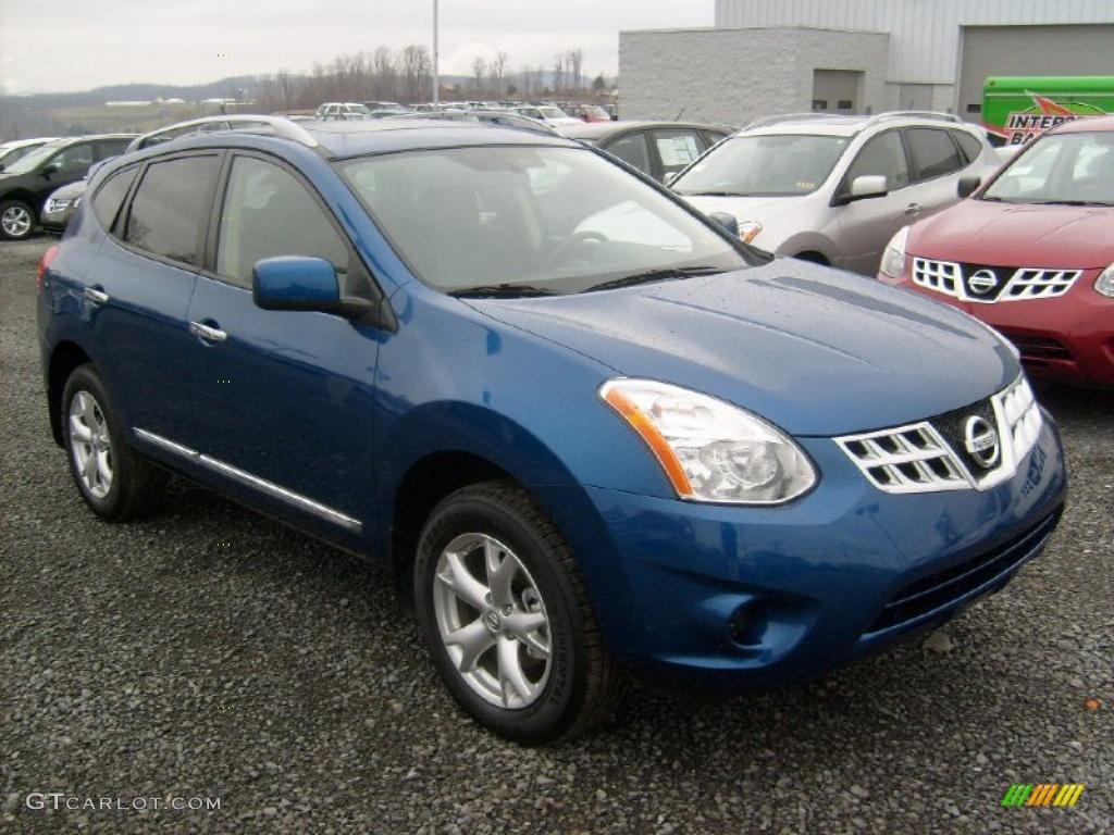 Indigo Blue Metallic 2011 Nissan Rogue Sv Awd Exterior