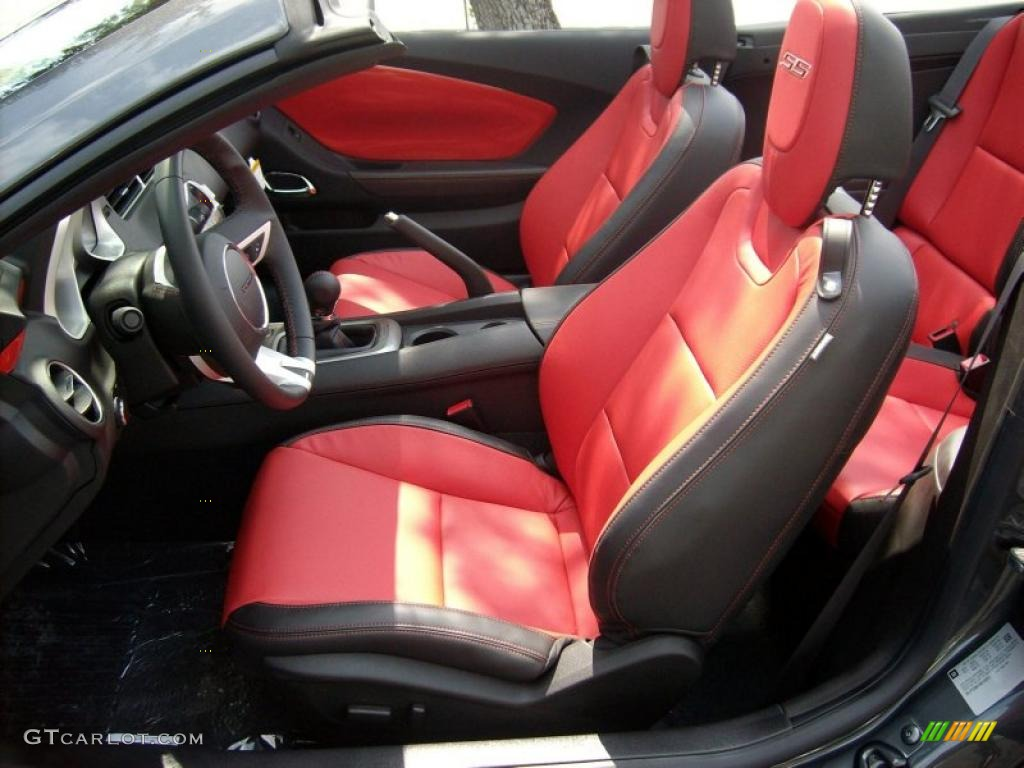 inferno orange black interior 2011 chevrolet camaro ss rs. Black Bedroom Furniture Sets. Home Design Ideas