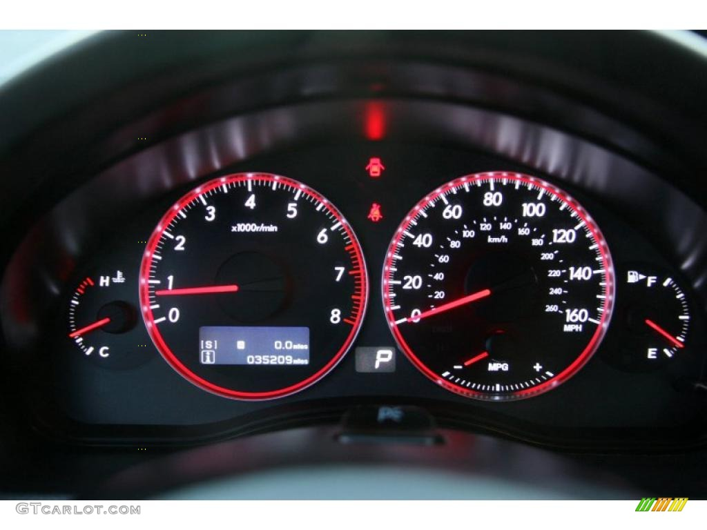 2008 Subaru Legacy 2 5 Gt Limited Sedan Gauges Photo