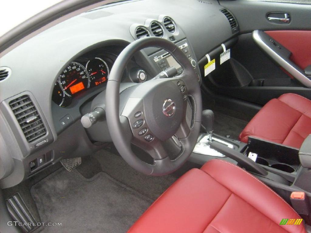 red interior 2011 nissan altima 2 5 s coupe photo. Black Bedroom Furniture Sets. Home Design Ideas