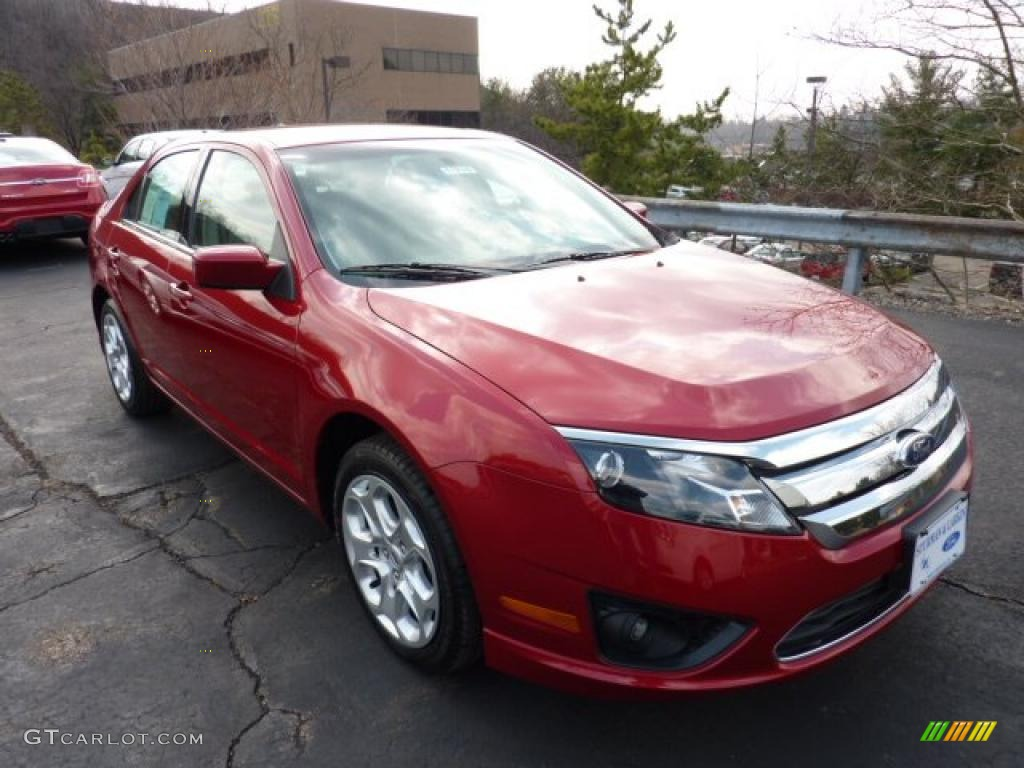 Red Candy Metallic Ford Fusion