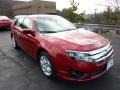 2011 Red Candy Metallic Ford Fusion SE V6  photo #1