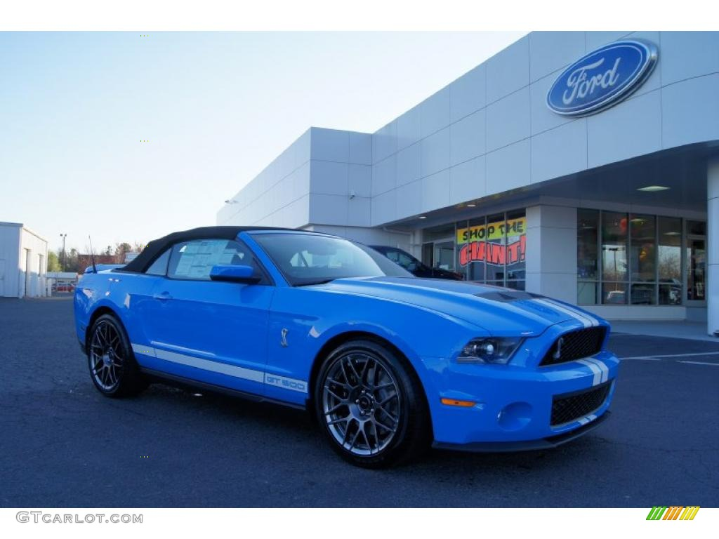Grabber Blue Ford Mustang Shelby Gt500 Svt Performance Package Convertible