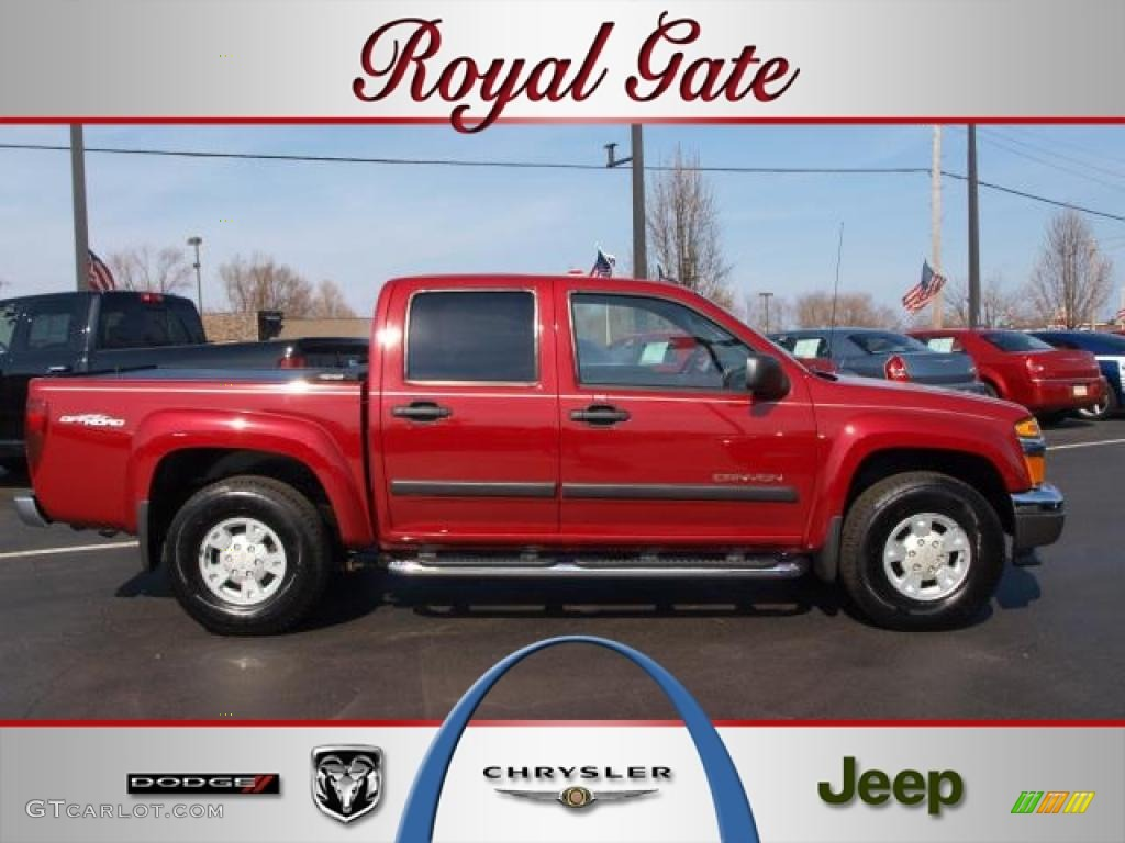 Cherry Red Metallic GMC Canyon