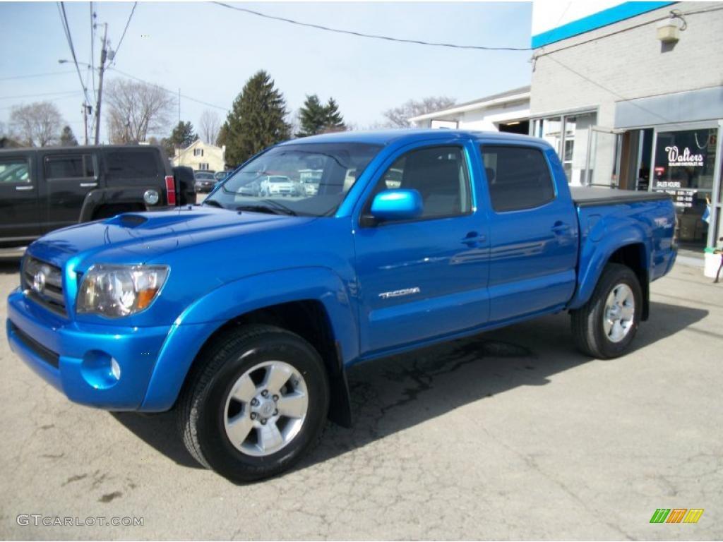 2010 speedway blue toyota tacoma v6 sr5 trd sport double cab 4x4 46869375 car. Black Bedroom Furniture Sets. Home Design Ideas