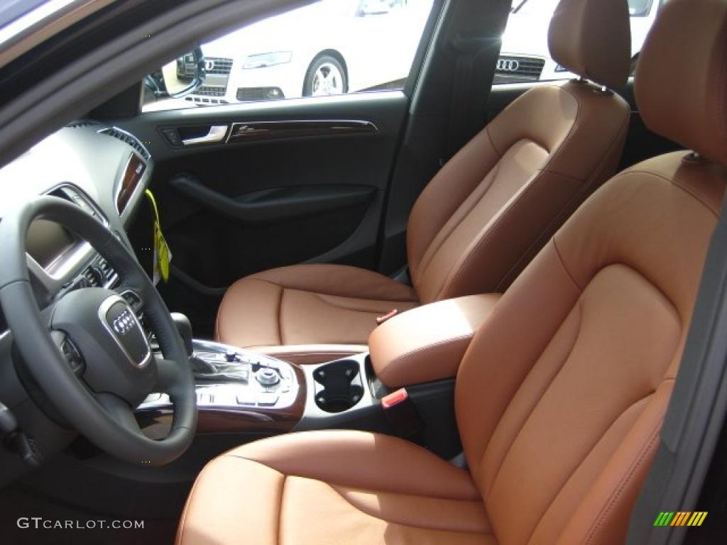 Perfect Cinnamon Brown Interior 2011 Audi Q5 2.0T Quattro Photo #46918151