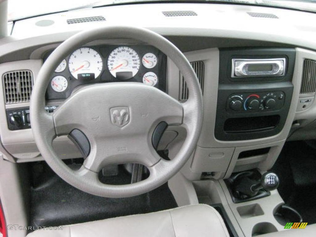 2003 Dodge Ram 1500 St Regular Cab Taupe Dashboard Photo 46919648