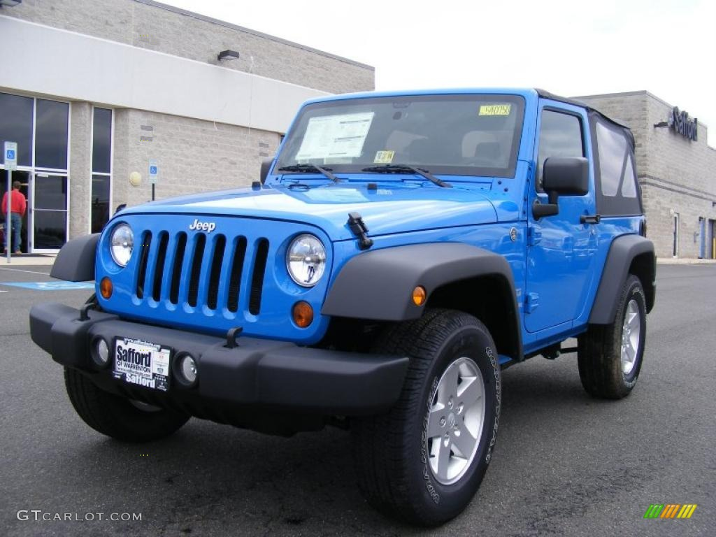 2011 Wrangler Sport S 4x4 - Cosmos Blue / Black photo #1