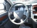 Medium Slate Gray 2007 Dodge Ram 1500 Laramie Mega Cab Steering Wheel