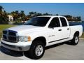 2002 Bright White Dodge Ram 1500 SLT Quad Cab 4x4  photo #1