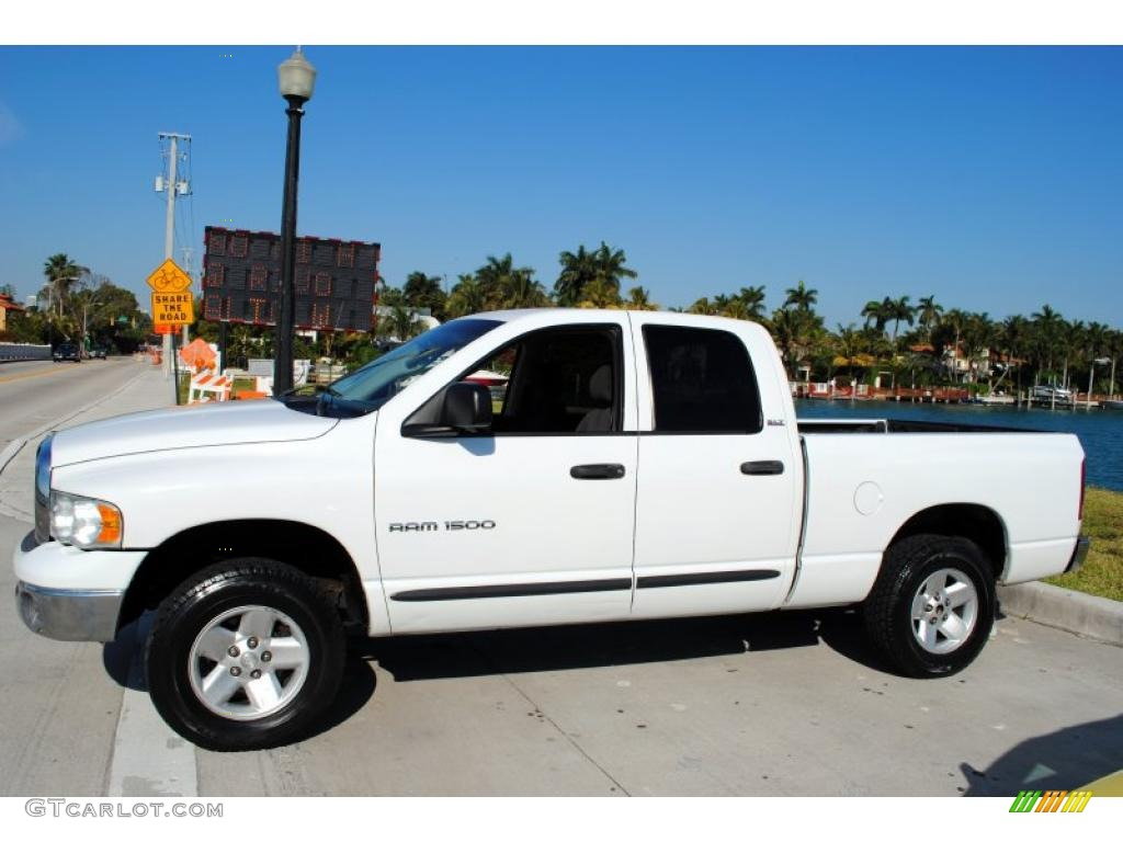 bright white 2002 dodge ram 1500 slt quad cab 4x4 exterior photo 46951371. Black Bedroom Furniture Sets. Home Design Ideas