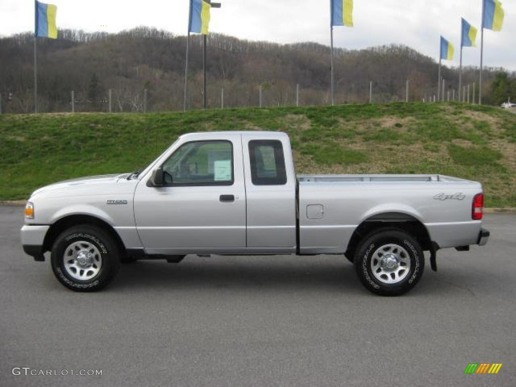 silver metallic 2011 ford ranger xlt supercab 4x4 exterior. Black Bedroom Furniture Sets. Home Design Ideas