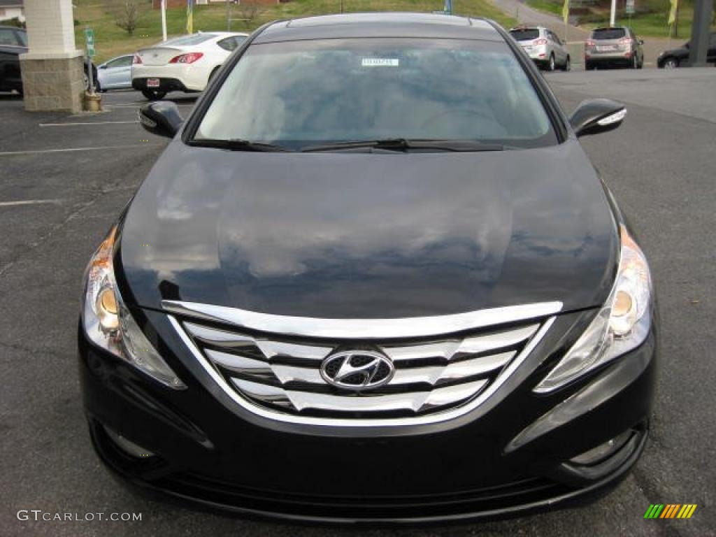 Midnight Black 2011 Hyundai Sonata Limited 2 0t Exterior