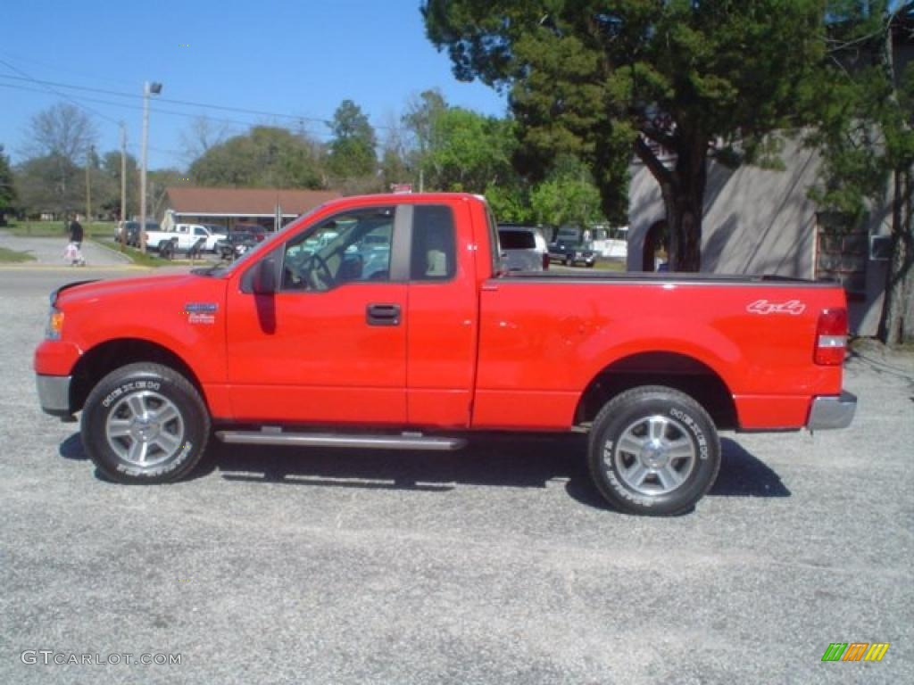 bright red 2007 ford f150 xlt regular cab 4x4 exterior photo 46965432. Black Bedroom Furniture Sets. Home Design Ideas
