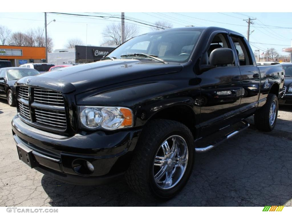 2004 black dodge ram 1500 slt sport quad cab 4x4 46957691 car color galleries. Black Bedroom Furniture Sets. Home Design Ideas