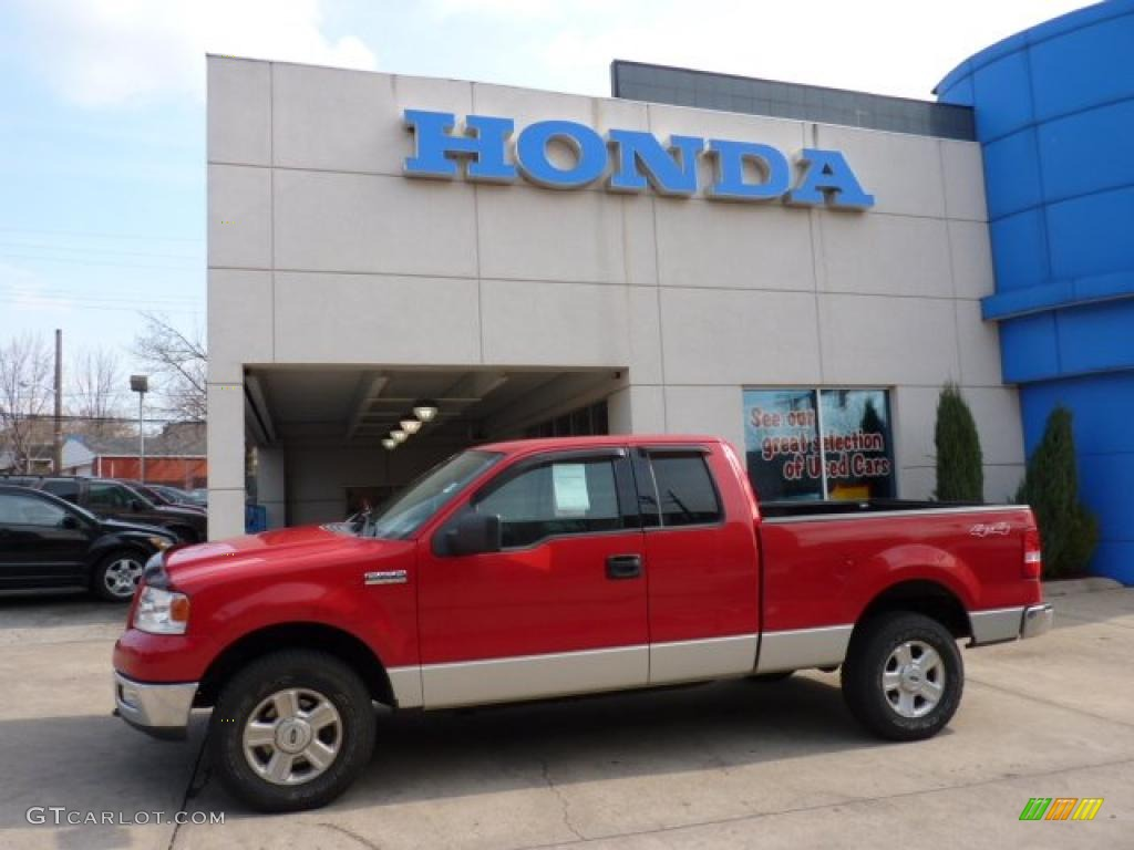 2004 Ford F150 Xlt Extended Cab Rwd F 150 Xl Supercab Bright Red 4x4