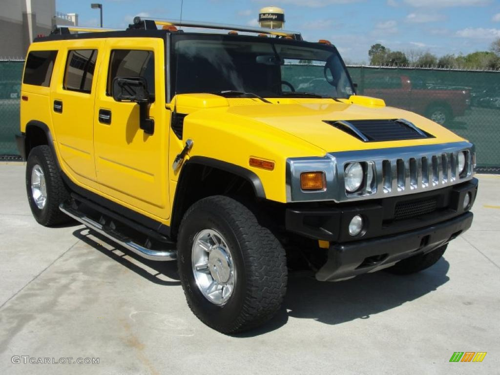 Yellow 2006 Hummer H2 SUV Exterior Photo #46978551