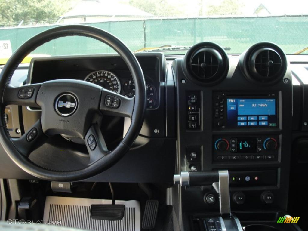 2006 Hummer H2 SUV Ebony Dashboard Photo #46979109