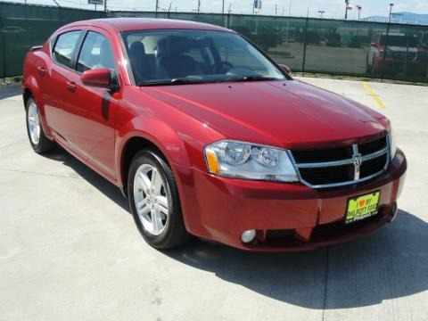 Red Dodge Avenger 2010. Dodge Avenger in 2010