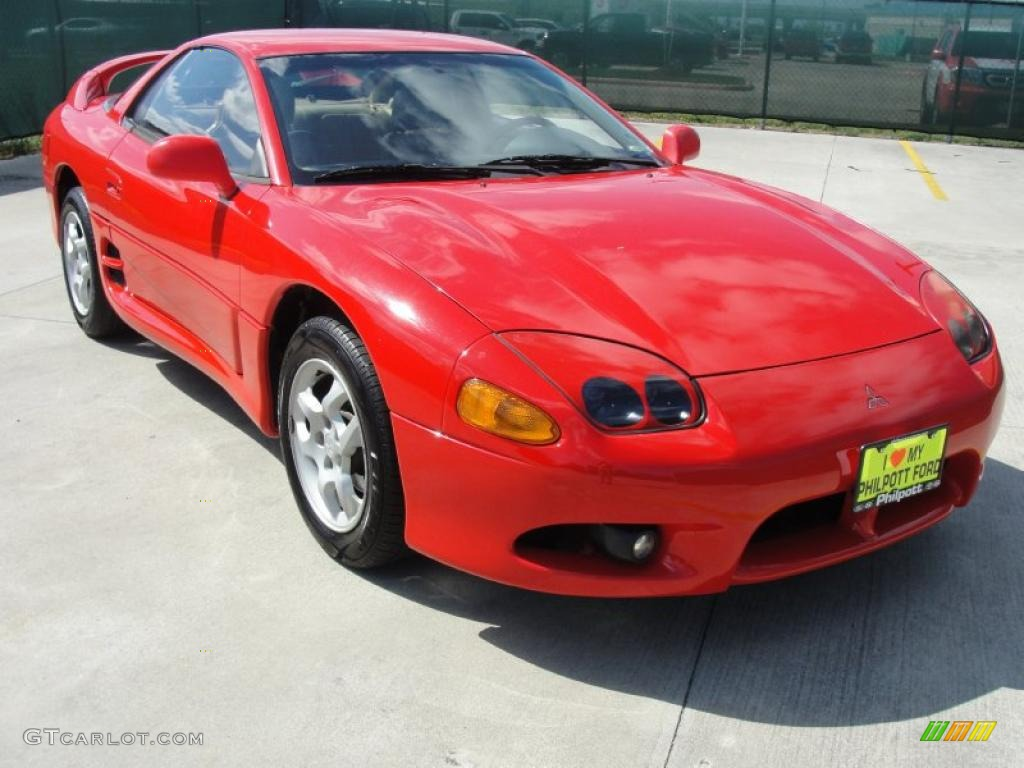 1998 3000gt Sl Coupe Caracus Red Beige Photo 1