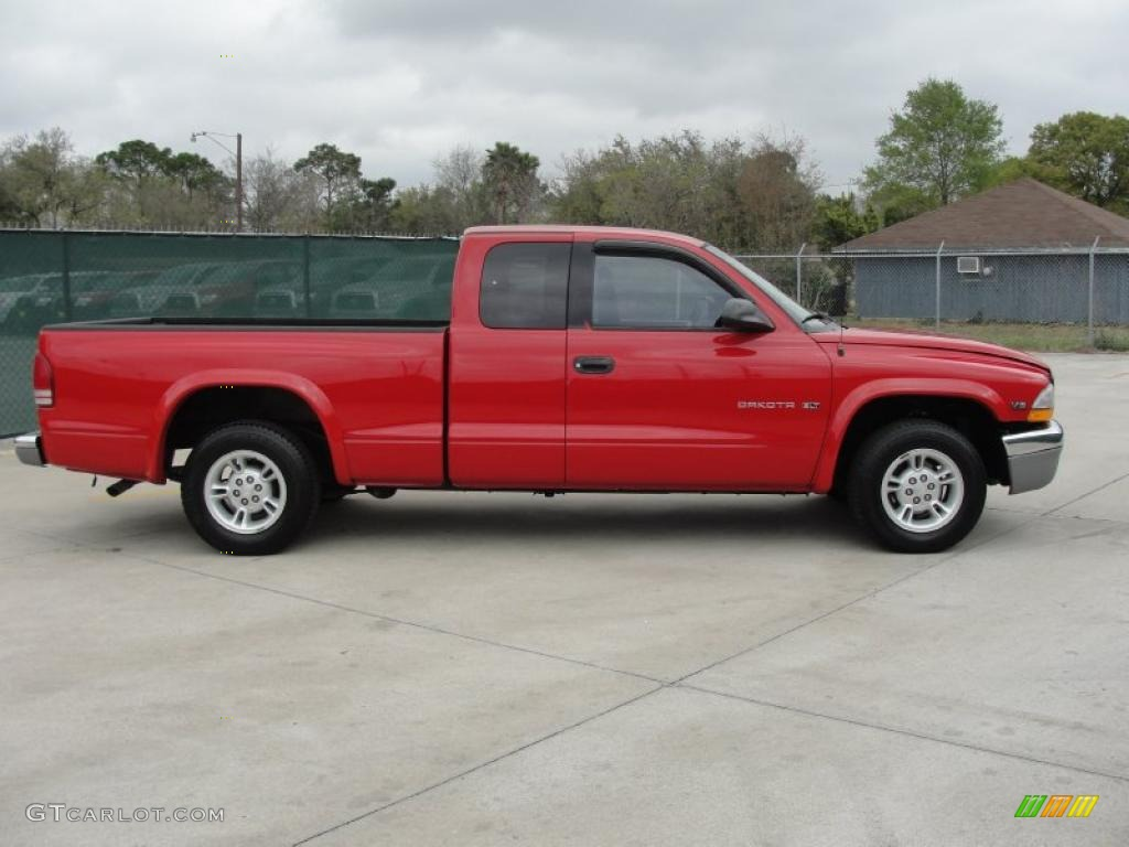 flame red 2000 dodge dakota slt extended cab exterior. Black Bedroom Furniture Sets. Home Design Ideas