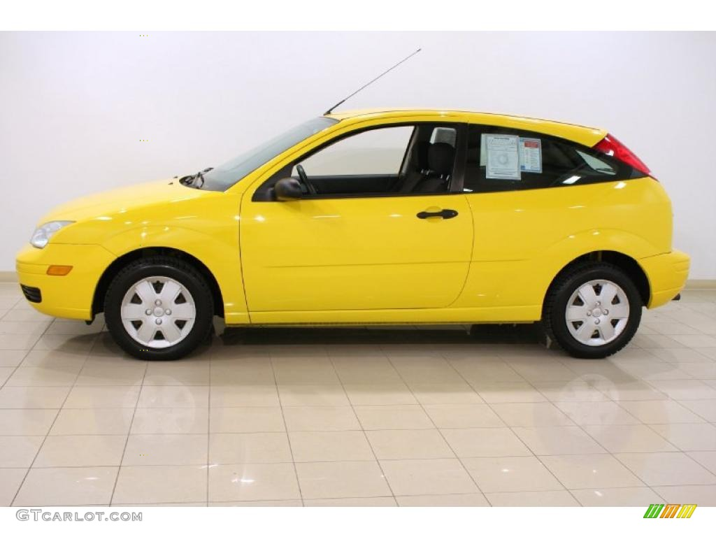 Screaming Yellow 2007 Ford Focus Zx3 Se Coupe Exterior