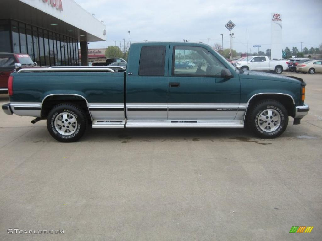 forest green metallic 1995 gmc sierra 1500 sle extended. Black Bedroom Furniture Sets. Home Design Ideas