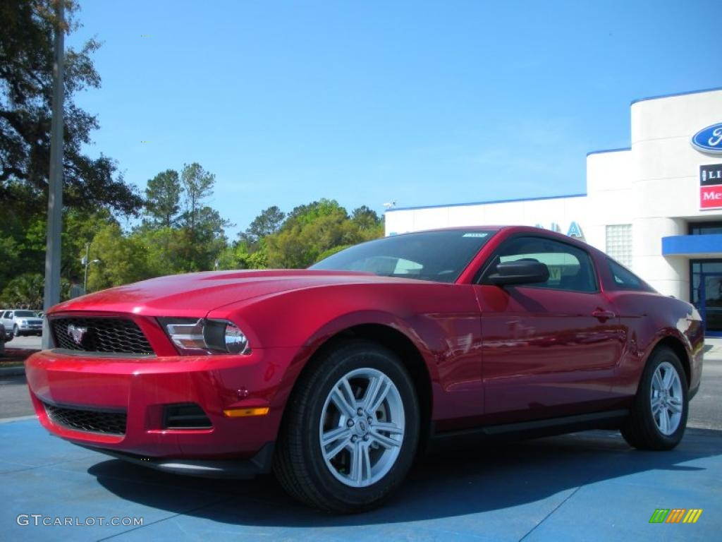 2012 red candy metallic ford mustang v6 coupe 47005357 car color galleries. Black Bedroom Furniture Sets. Home Design Ideas