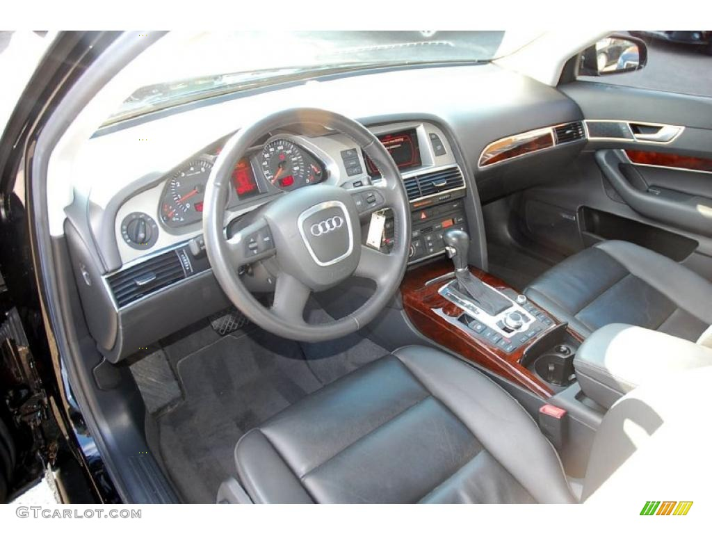 Black Interior 2008 Audi A6 3 2 Sedan Photo 47023389