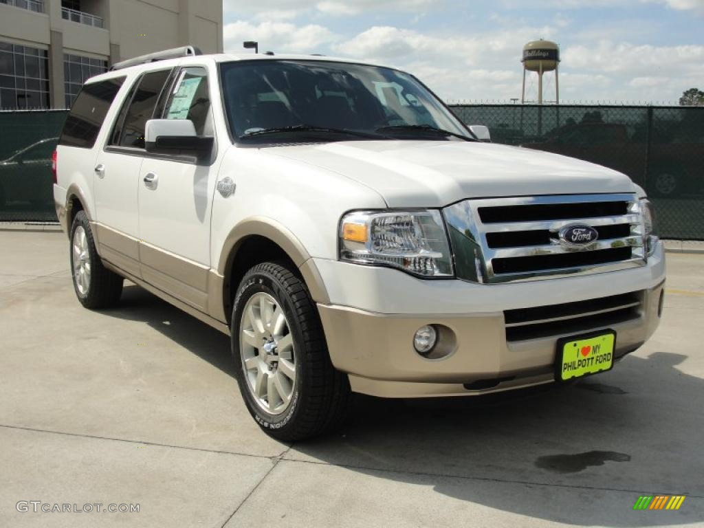 White Platinum Tri Coat Ford Expedition EL King Ranch