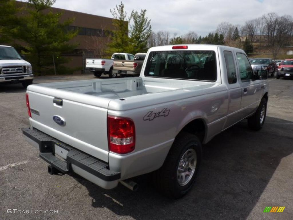silver metallic 2011 ford ranger sport supercab 4x4 exterior photo 47027184. Black Bedroom Furniture Sets. Home Design Ideas