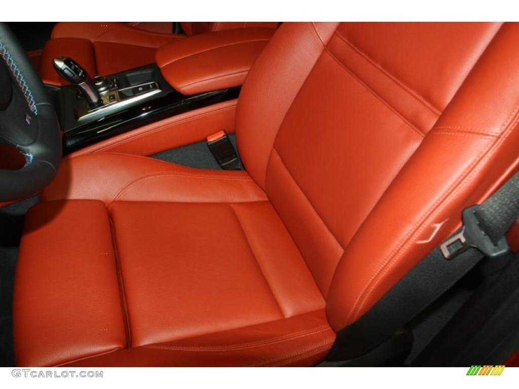 Sakhir Orange Full Merino Leather Interior 2011 Bmw X6 M M Xdrive Photo 47028000 Gtcarlot Com
