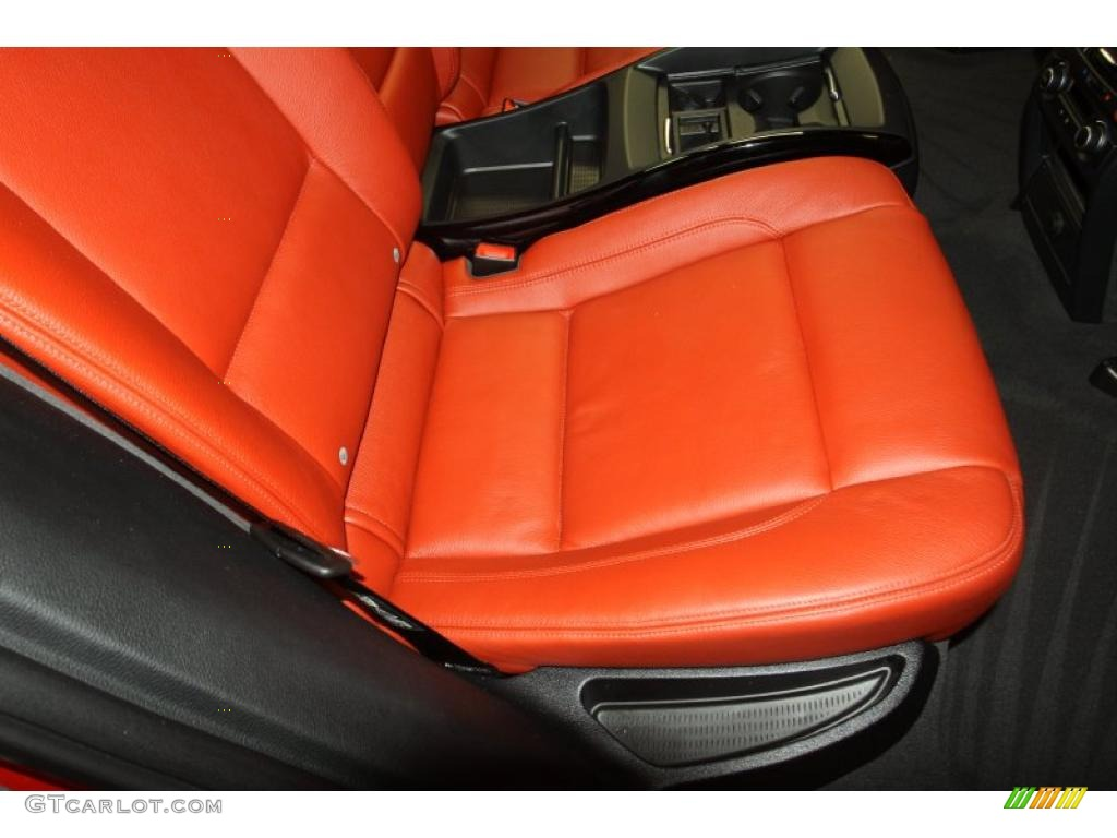 Sakhir Orange Full Merino Leather Interior 2011 Bmw X6 M M