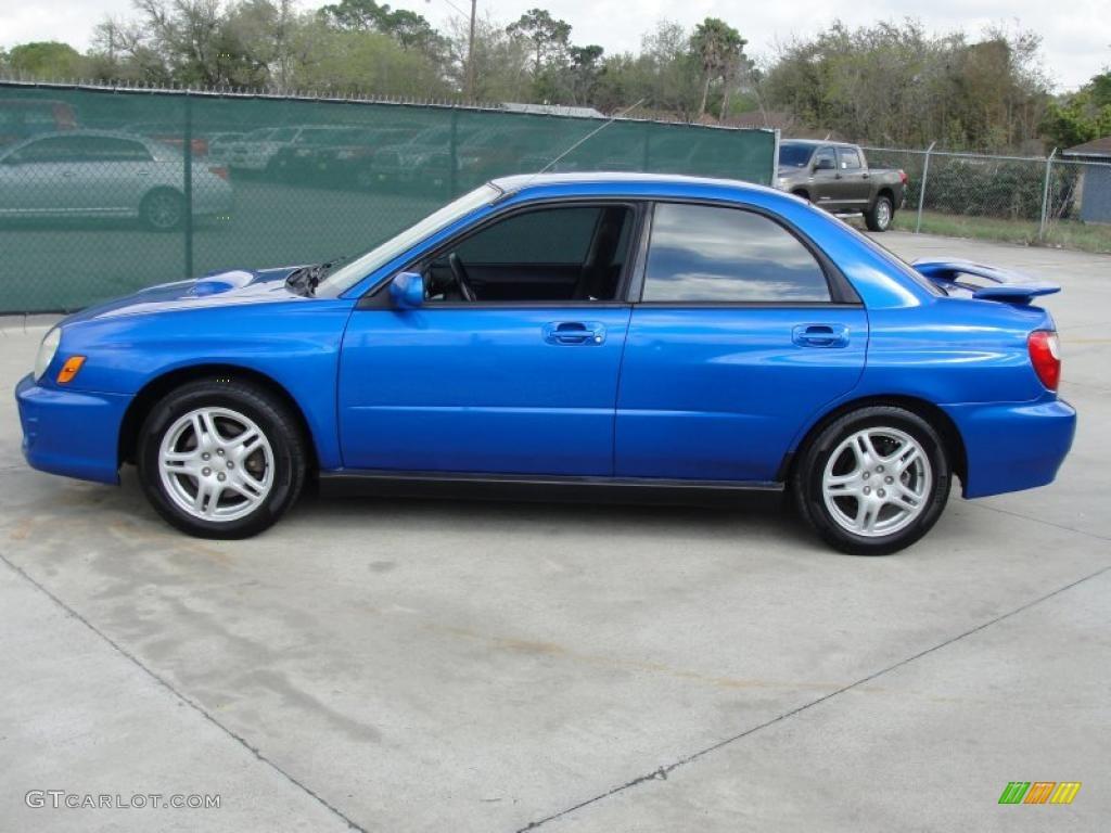 WR Blue Pearl 2002 Subaru Impreza WRX Sedan Exterior Photo #47030712